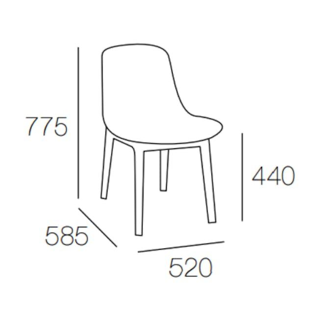 Aurora Dining Chair - Black, Ruby - 3