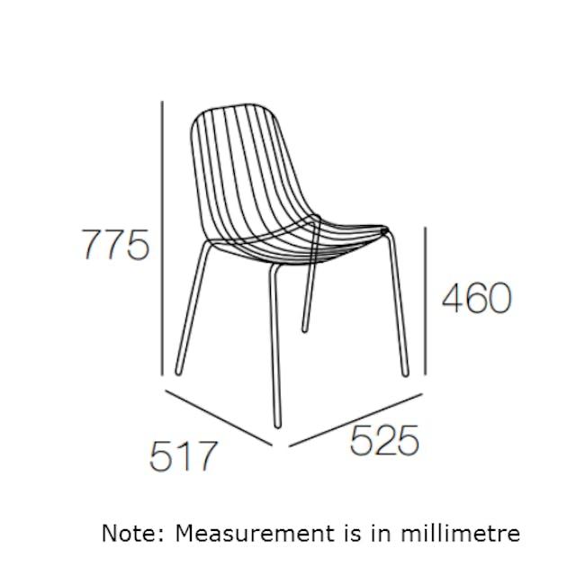 Nerissa Outdoor Dining Chair - Matt White - 5