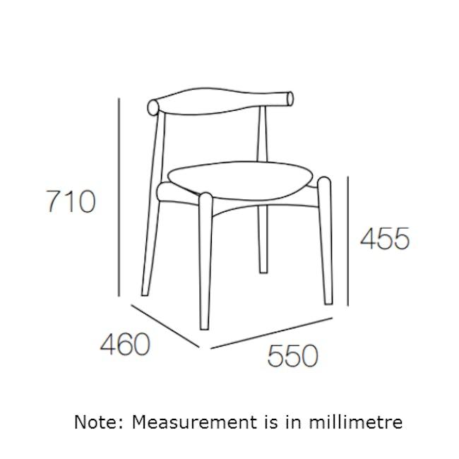(As-is) Bouvier Dining Chair - Oak, Carrot - 1 - 13