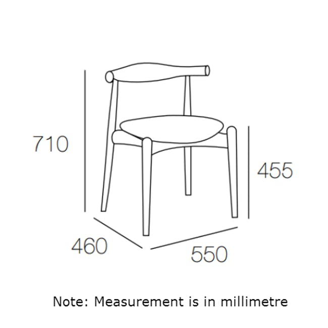 Bouvier Dining Chair - Walnut, Cream - 6