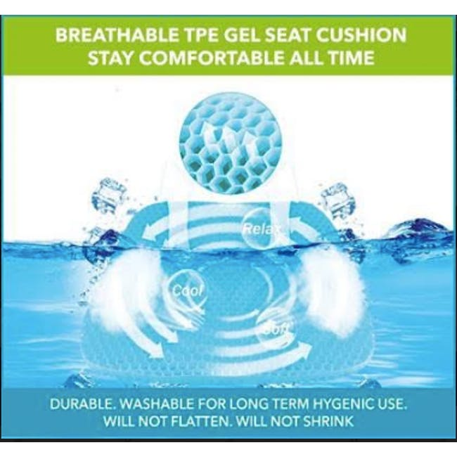 True Relief TPE Seat Cushion - Ocean Blue - 4