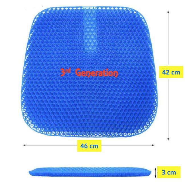 True Relief TPE Seat Cushion - Ocean Blue - 3