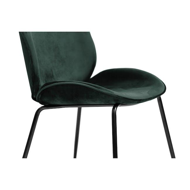 Lennon Dining Chair - Black, Pine Green (Velvet) - 2