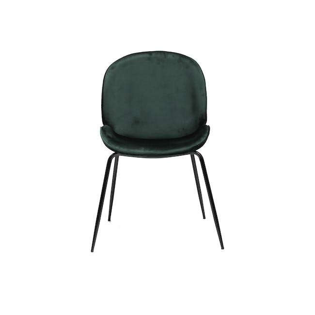 Lennon Dining Chair - Black, Pine Green (Velvet) - 4