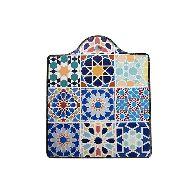 Peranakan Ceramic Pot Coaster - Poppy - 0