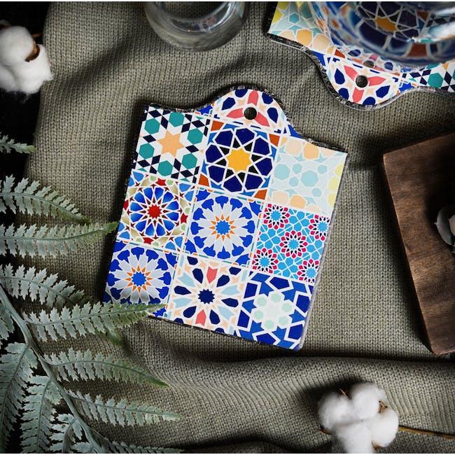 Peranakan Ceramic Pot Coaster - Poppy - 1