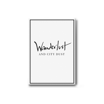 Wanderlust and City Dust Stretched Canvas Art Print - Image 1