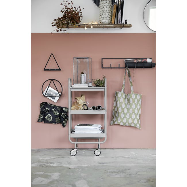 Roll Trolley - Taupe Grey - 1