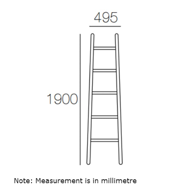 Mycroft Ladder Hanger - Black - 5