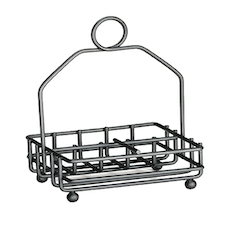 Powder Coated Metal Condiment Rack