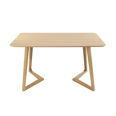 (As-is) Trio Dining Table - Oak - A