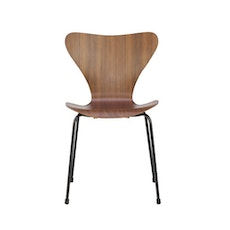 Series 7 Chair - Walnut, Black Legs