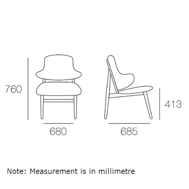 Veronic Lounge Chair - Forrest, Oak - 3
