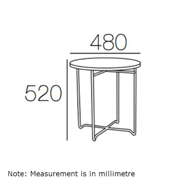 Xever Occasional Table - White, Matt White - 4