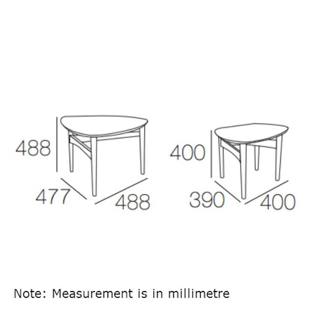 Poet Occasional Table Set - Oak - 7