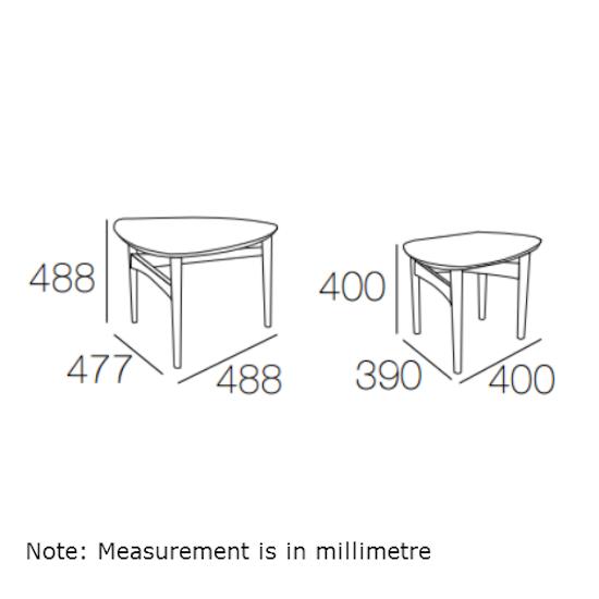Malmo - Poet Occasional Table Set - Oak