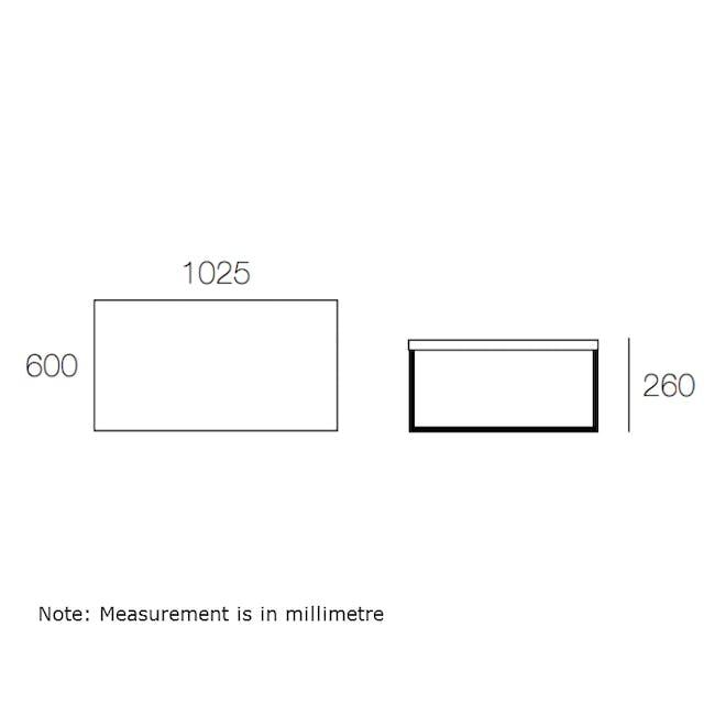 (As-is) Myron Rectangle Coffee Table - White, Matt Black - 15