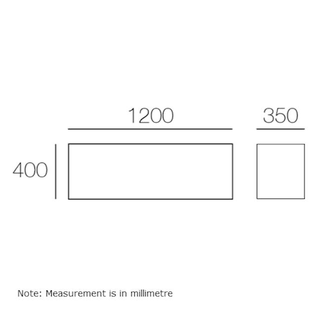 Liam Media Rack 1.2m - Charcoal Grey - 3