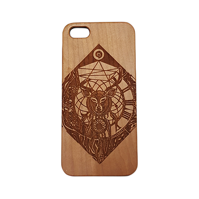 Anothdeer Engraved Natural Wood Iphone 5/5S Case