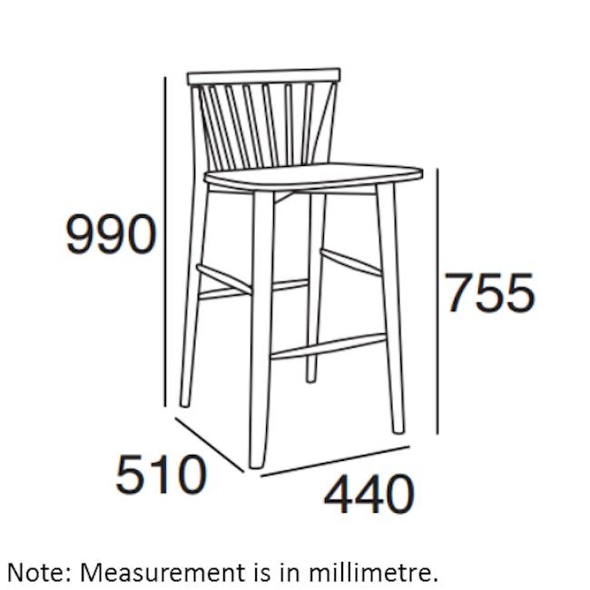 Birdy Bar Chair - Sage Green - 3