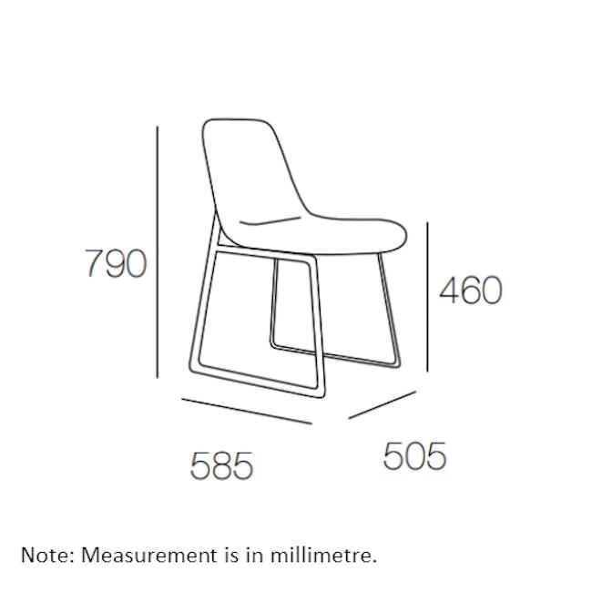 Aurora Dining Chair - Matt Black, Jade - 5