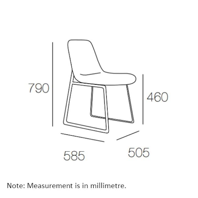 Aurora Dining Chair - Matt Black, Pistachio - 5