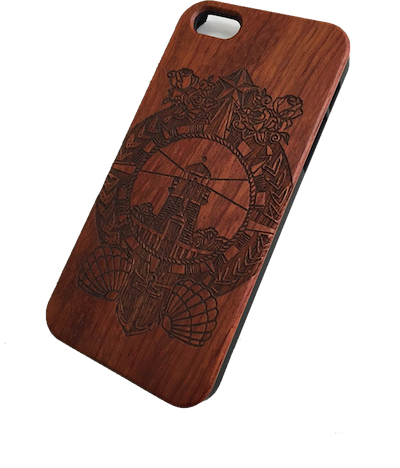 Nautical Natural Wood Iphone 5/5S Case