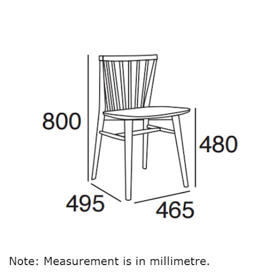 Malmo - Birdy Dining Chair - Sage Green