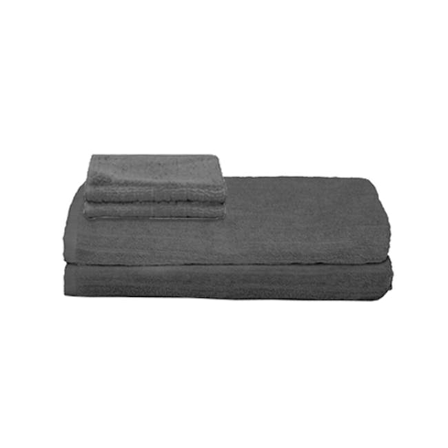 EVERYDAY Bath Towel & Face Towel - Charcoal (Set of 4) - 0