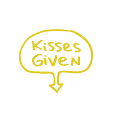 Kisses Given Wall Decal - Gold