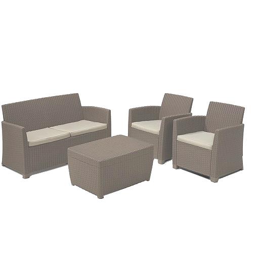 Corona Lounge Set   Cappuccino