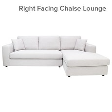 Santorini L-Shape Sofa - Light Grey