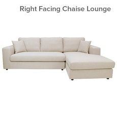 Santorini L-Shape Sofa - Cream