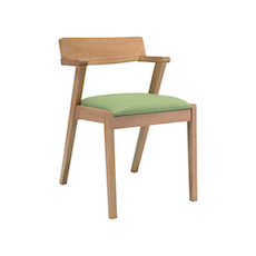 Casablanca Dining Chair - Natural, Spring Green (Set of 2)