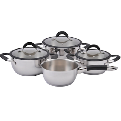 Lamart Stainless Steel Casseroles & Sauce Pan Cookware Set - Image 1