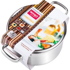 Lamart Stainless Steel Pot with Glass Lid