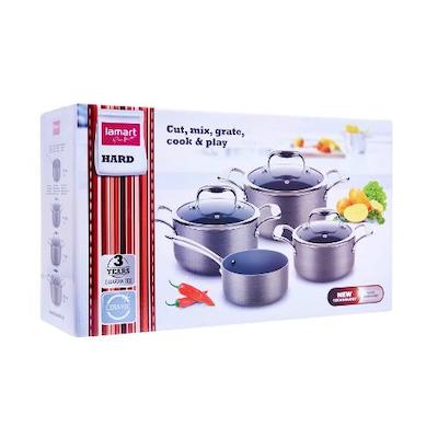 Lamart Hard Anodised Cookware Set - Image 2