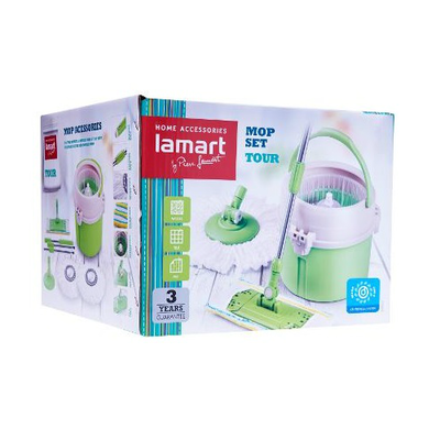 Lamart Tour Mop Set with Accessories 7L - Green - Image 2
