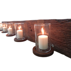 Massive Wall Candle Holder With Glass Insert