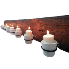 Massive Wall Candle Holder With Clay Holder
