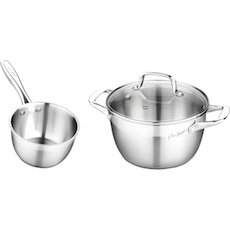 Lamart Stainless Steel Sauce Pan & Casserole Set