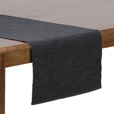 Rectangular Cotton Table Runner - Dark Grey