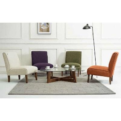Maya Lounge Chair - Cocoa, Lava - Image 2