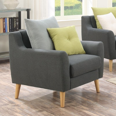 Evan Jr. Armchair with Cushions - Granite - Image 2