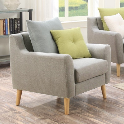 Evan Jr. Armchair with Cushions - Sand - Image 2