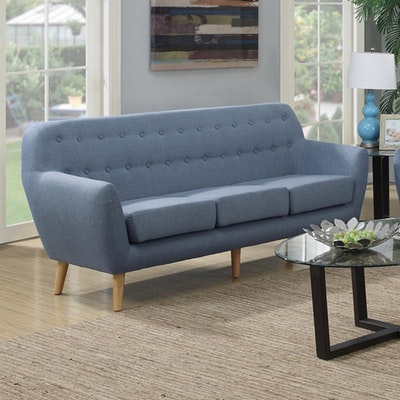 (As-is) Emma 3 Seater Sofa - Blue - 2 - Image 2
