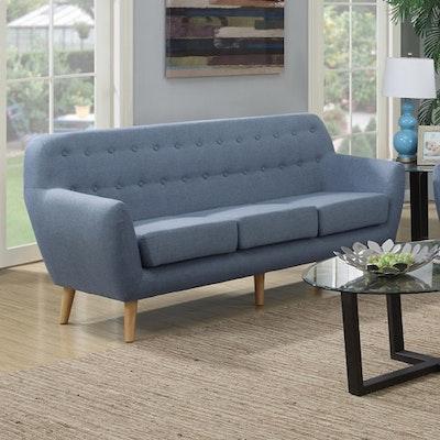 Emma 3 Seater Sofa - Blue - Image 2