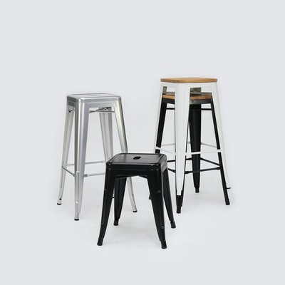 Tolix Stool - Industrial Silver - Image 2
