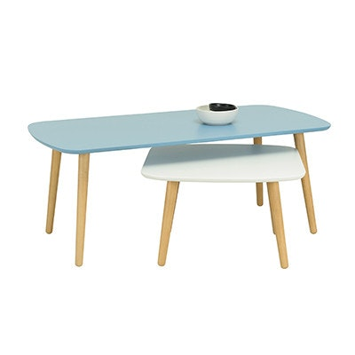Banji Low Coffee Table - Dust Blue