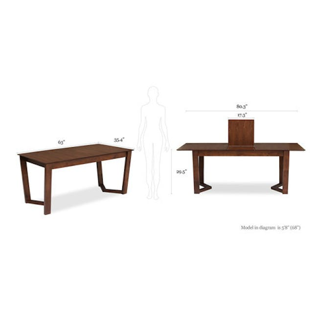 Meera Extendable Dining Table 1.6m - Cocoa - 19